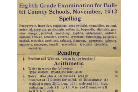 1912 eighth grade exam: Could you make it to high school in 1912? | Educadores innovadores y aulas con memoria | Scoop.it