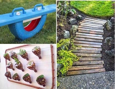 10 proyectos diy para decorar el jard n for Objetos decoracion jardin