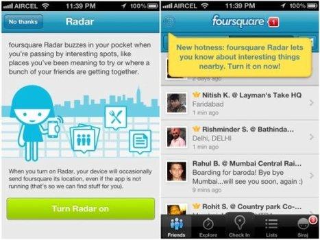 Foursquare suma nuevas funcionalidades | Despegar | Foursquare y sus novedades | Scoop.it