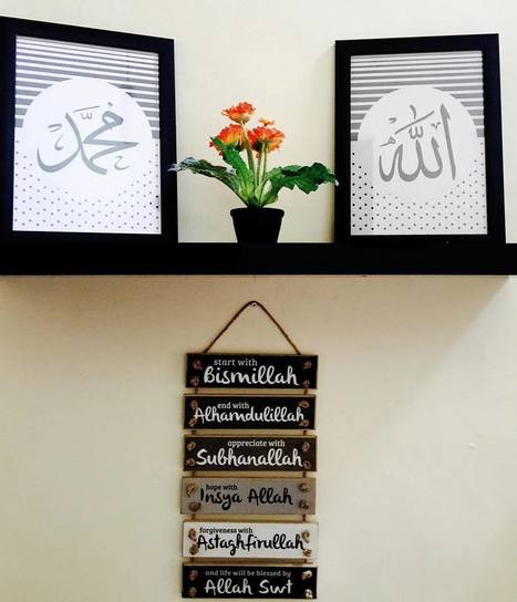 Desain Rumah Minimalis Yang Islami  29 ide hiasan dinding kamar dan ruang tamu isla