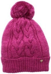 9b56f1a10f7 Juicy Couture Women s All That Glitters Sparkle Cable Beanie