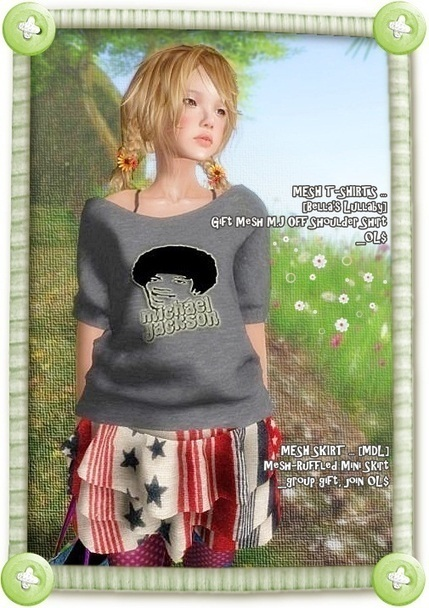 Free@Mesh MJ T-Shirts, Mesh Skirts & Leggins & Bag & Shoes | Freebies and cheapies in second life. | Scoop.it
