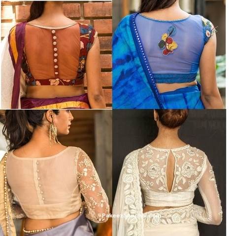 New Trend of Sheer Net Blouse Back Styles 2017, #BlouseBackDesigns, #BlouseBackNeckDesigns, #BlouseModels, #BlouseNeckDesigns, #BlousePatterns, #DesignerBlousesForWomen, #DesignerWearBlouses, #Ladi... | Indian Fashion Updates | Scoop.it