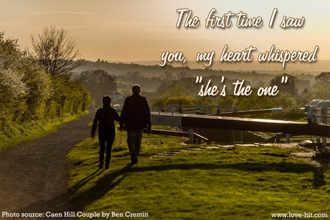 The first time I saw you, my heart whispered &q