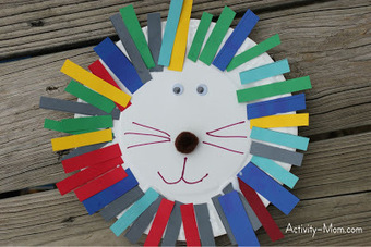The Activity Mom: Paper Plate Alphabet Craft - L is for Lion | Literacia no Jardim de Infância | Scoop.it