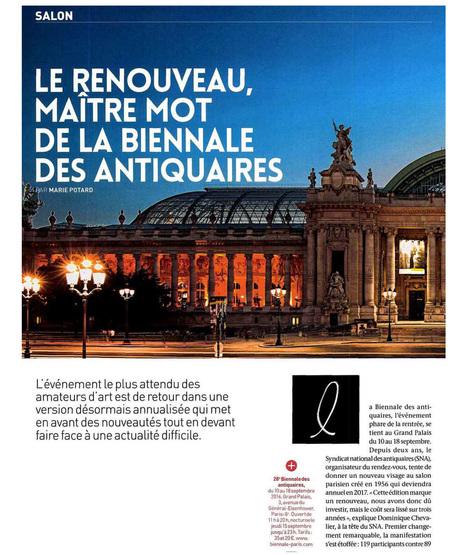 Le renouveau, maître mot de la Biennale des Antiquaires - L'Oeil n°693 / Septembre 2016   La Biennale - Paris   Scoop.it