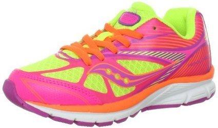9cd2730a03 Saucony Girls Kinvara 4 Running Shoe (Little Kid),Citron/Pink/Purple,12 M US  Little Kid