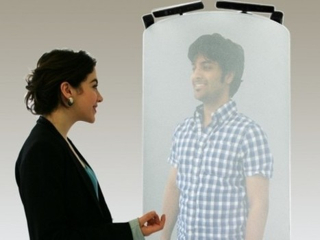 TeleHuman : un hologramme grandeur nature sur un cylindre avec Kinect | News Techno | Scoop.it