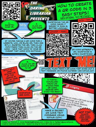 The Daring Librarian on QR Codes in the Classroom - Library 2.0   The Information Professional   Scoop.it