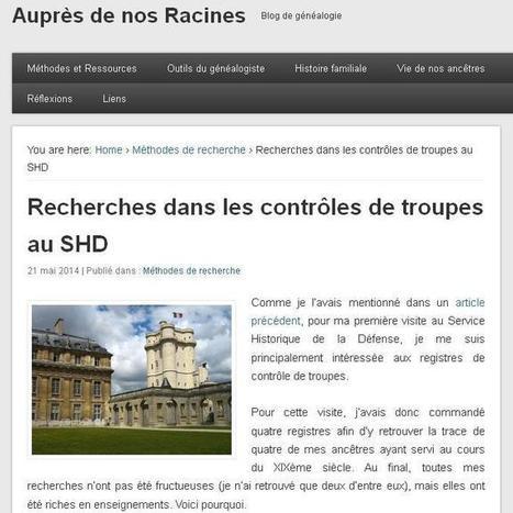 Article du jour (71) : Controles des troupes au SHD   CGMA Généalogie   Scoop.it