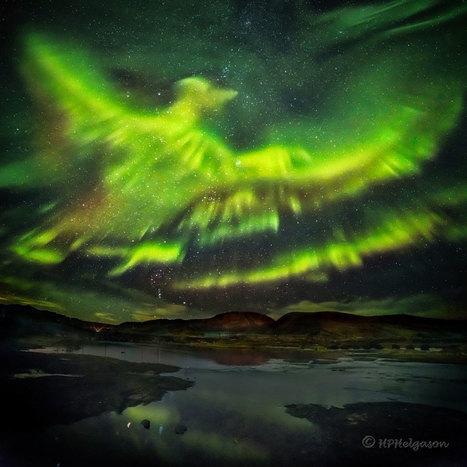 La aurora del fénix sobre Islandia   Era del conocimiento   Scoop.it