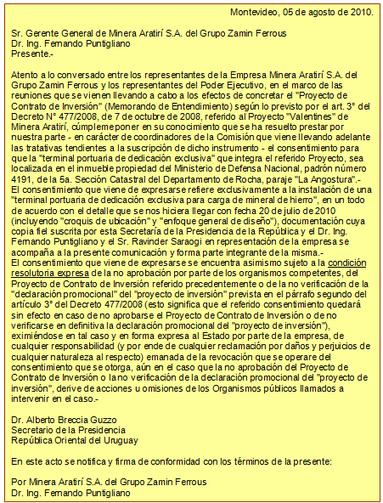 Negociaciones con Aratirí | Observatorio Minero del Uruguay | MOVUS | Scoop.it