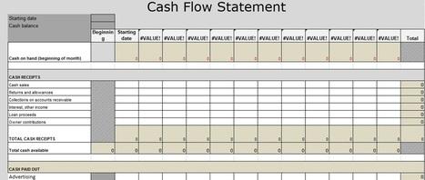 Cash Flow Statement Excel Template Download - E...