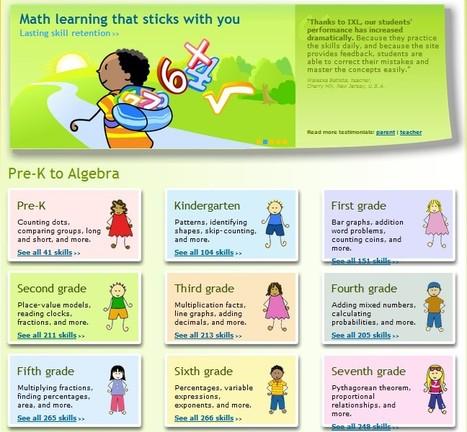 IXL-Maths for the left and right brain | 1-MegaAulas - Ferramentas Educativas WEB 2.0 | Scoop.it