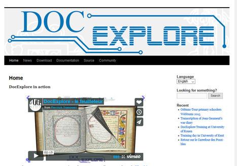 Herramientas libres: Creación enriquecida de libros con DocExplore | Maestr@s y redes de aprendizajes | Scoop.it