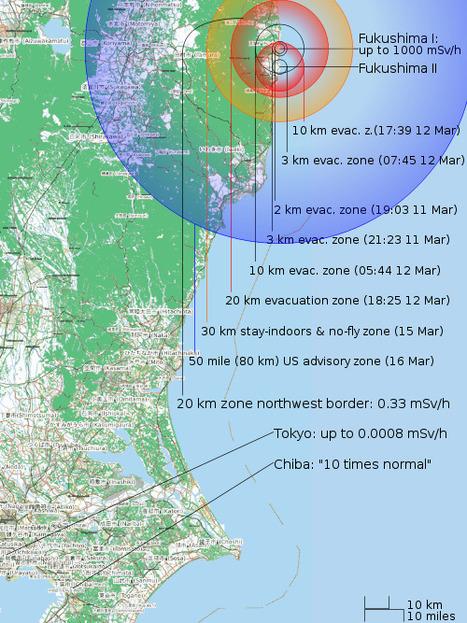 [Eng] La carte de la zone d'exclusion de Fukushima | Power and Control | Japon : séisme, tsunami & conséquences | Scoop.it