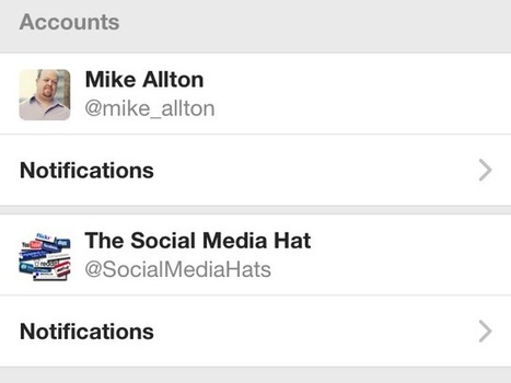 How to set up multiple Twitter accounts on your iPhone | Twitter Stats, Strategies + Tips | Scoop.it