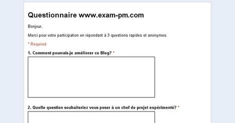 Questionnaire www.exam-pm.com | Gestion de Projet | Scoop.it