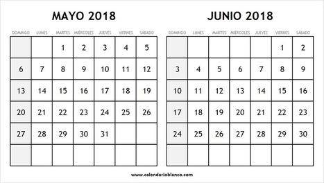 calendario mayo junio 2018 para imprimir argentina mexico