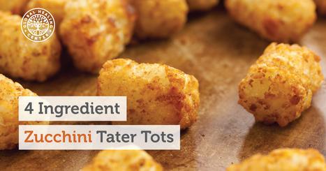 Quick Superfood Recipes: 4 Ingredient Zucchini Tater Tots | Vegan going mainstream | Scoop.it