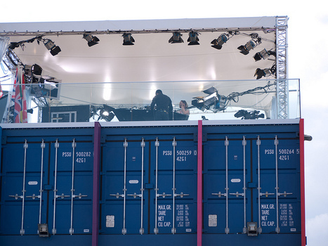 BBC Sport Studios on top of shipping containers | Tom Stitt's Container Innovation Scoop.it! | Scoop.it