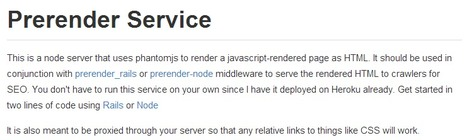 Prerender - AngularJS SEO, BackboneJS SEO, or EmberJS SEO | Development on Various Platforms | Scoop.it