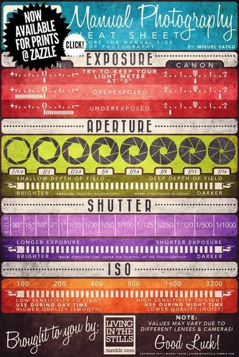 27 Photography Cheat Sheets and Infographics For Photographers | Photography on the Go | Scoop.it