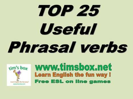 TIMSBOX_jeux anglais enfant_MISC-PHRASAL VERBS | Teaching English ESL - Ressources anglais -timsbox | Scoop.it