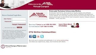 Ctu Online Virtual Campus Login Student Portal