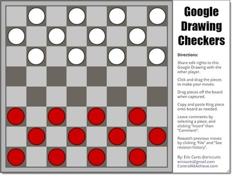 Google Drawings Chess and Checkers for Students | Using Google Drive in the classroom | Scoop.it