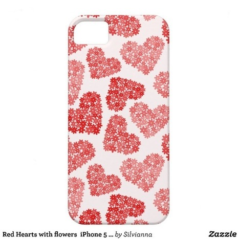Red Hearts with flowers iPhone 5 Case iPhone 5 Cases from Zazzle.com | Cute floral iPhone Cases | Scoop.it