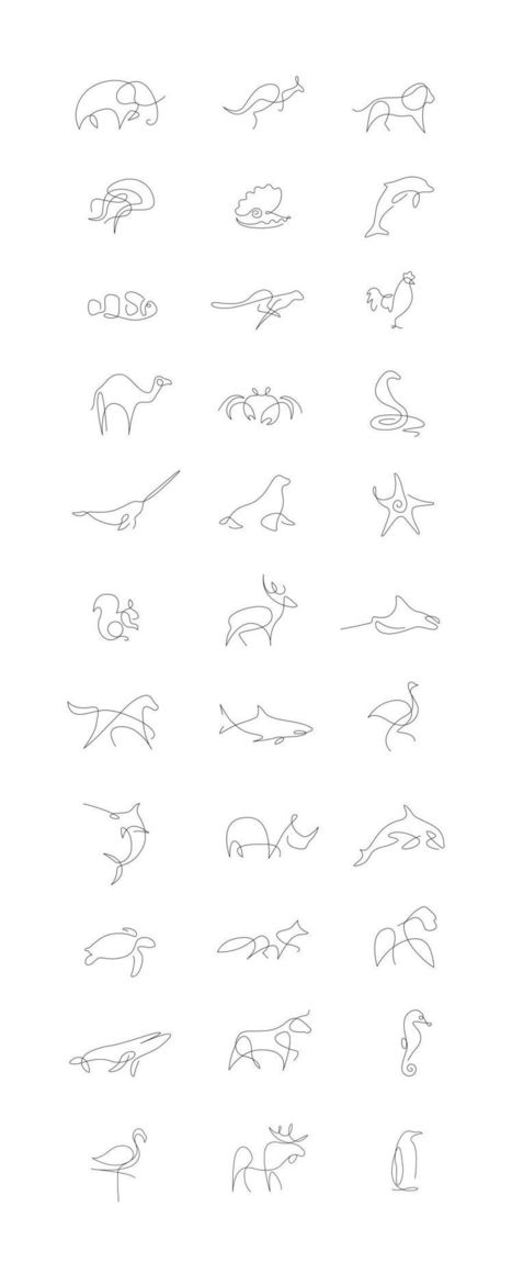 #Minimalist #One #Line #Animals By A French Artist Duo #continualine #drawing | Luby Art | Scoop.it
