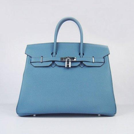 Wholesale Réplique Hermes Birkin 35CM meilleur cuir Silver Blue Togo -  €330.00   réplique sac a main, sac a main pas cher, sac de marque 249bf21b418
