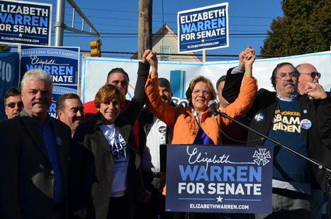 photo:Elizabeth Warren, Mass. & National Labor Leaders Rally in Malden   Massachusetts Senate Race 2012   Scoop.it
