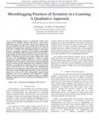 Microblogging Practices of Scientists in e-Learning: A Qualitative Approach | m-Learning thoughts | Scoop.it