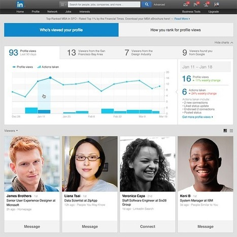 LinkedIn Begins Showing Which Actions Led to Profile Views | Understanding Social Media | Scoop.it