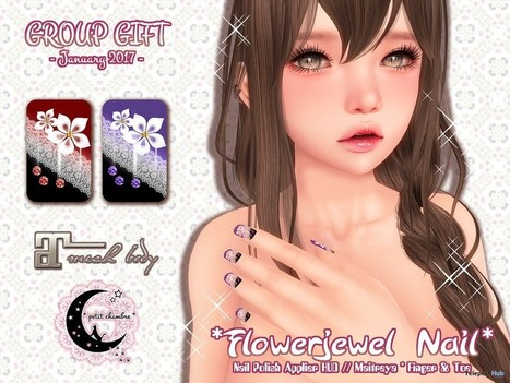 Flower Jewel Nail Group Gift by petit chambre | Teleport Hub - Second Life Freebies | Second Life Freebies | Scoop.it
