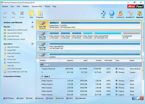 minitool partition wizard pro 9.1 bootable
