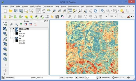 Como calcular NDVI no QGIS com SCP | Everything is related to everything else | Scoop.it
