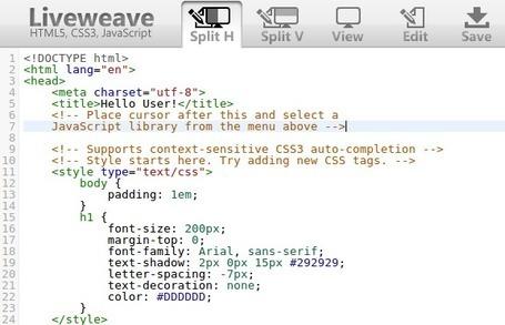 Liveweave - Éditeur HTML5, CSS3 en ligne | Outil web 2.0 | Scoop.it
