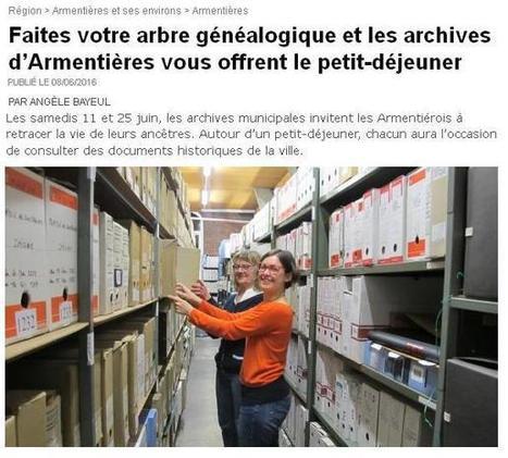 Archives d'Armentières vous offre le petit déjeuner | Généalogie et histoire, Picardie, Nord-Pas de Calais, Cantal | Scoop.it
