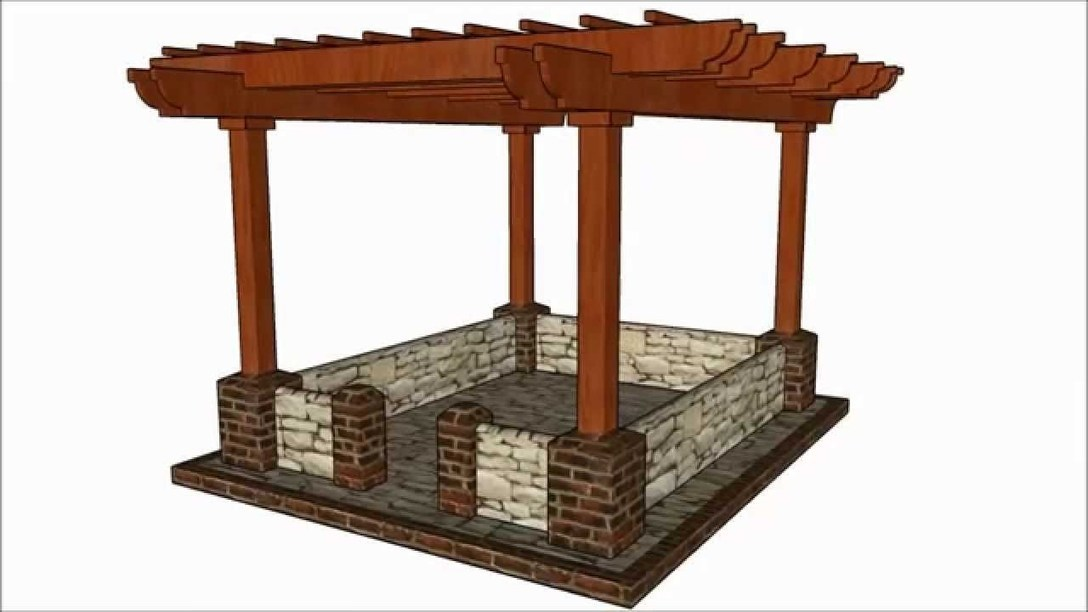 Garden projects for 3 post pergola plans