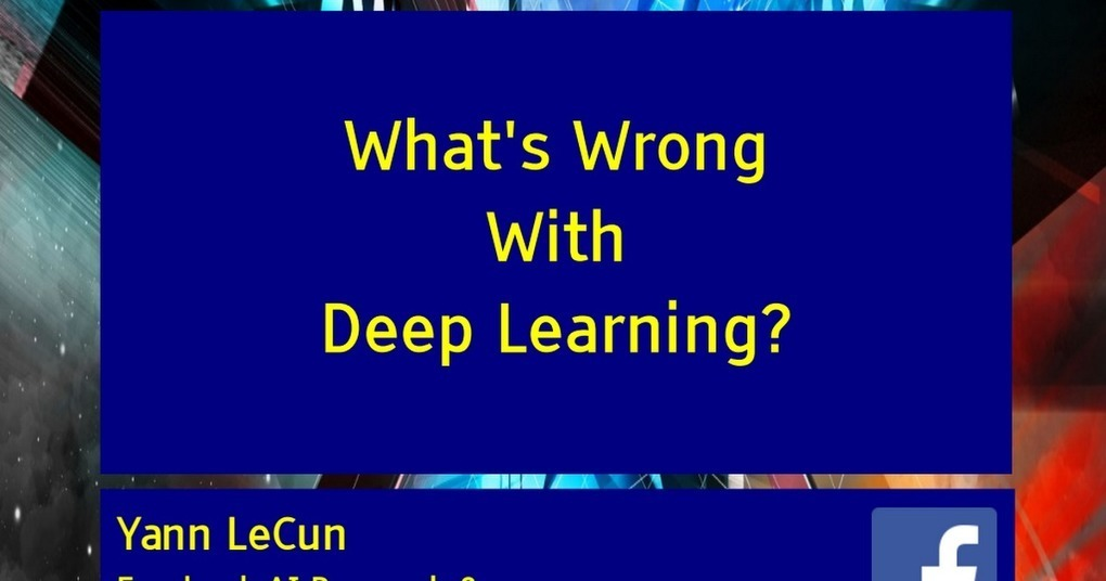 What S Wrong With Kentucky: What's Wrong With #DeepLearning?