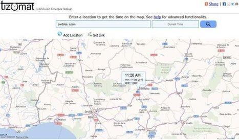 Tizomat, un mapa para conocer la hora en cualquier parte del mundo | Las tic en el aula (herramientas 2.0 ) | Scoop.it
