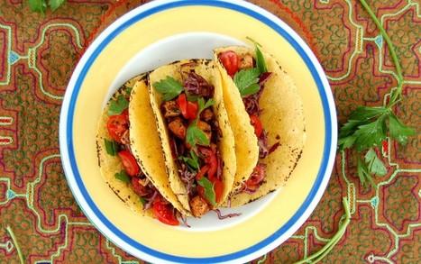 Smoky Tofu Tacos With Avocado Slaw [Vegan, Gluten-Free]   My Vegan recipes   Scoop.it