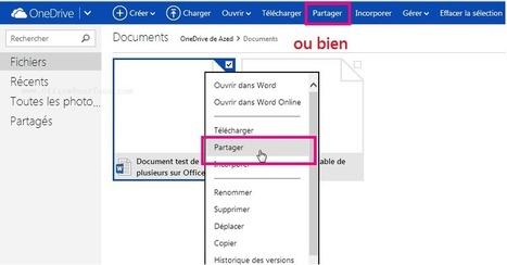 Travailler à plusieurs sur Office Online via OneDrive [Tutoriel] | Time to Learn | Scoop.it