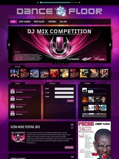 Dance Floor V2 WordPress DJ Music Theme | Free ...