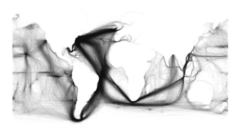 Visualization of 19th Century Ship Routes from Publicly Available NOAA Data Set | Geo-visualization | Scoop.it