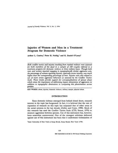 SpringerLink - Journal of Family Violence, Volume 9, Number 2 | Parental Responsibility | Scoop.it