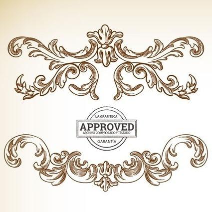 2 sets de marcos barrocos y artesanías en vectores   Recursos   Scoop.it